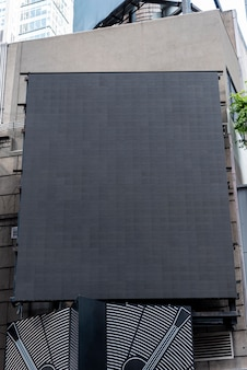 Big mock-up billboard in city scape