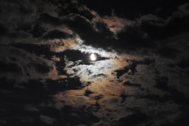 Big moon in the night sky