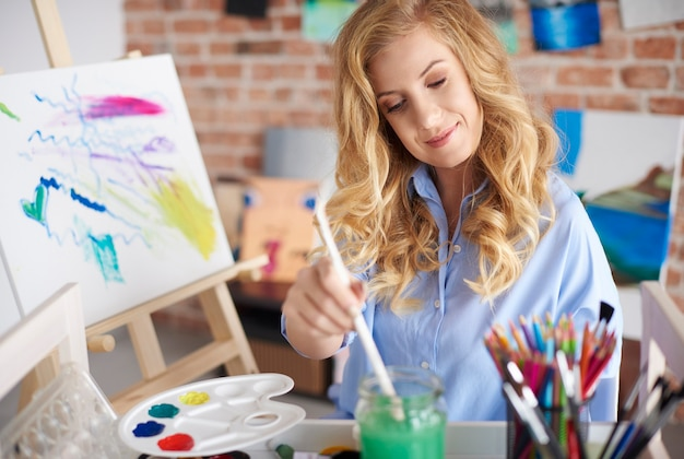 Big passion of young artist