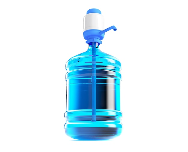 Big plastic barrel gallon bottle with a handle for office