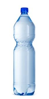 白で隔離される大きなプラスチック製の水ボトル