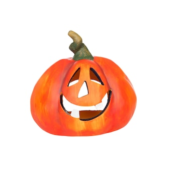 Big pumpkin with laughing face