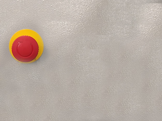 Big red button on wall