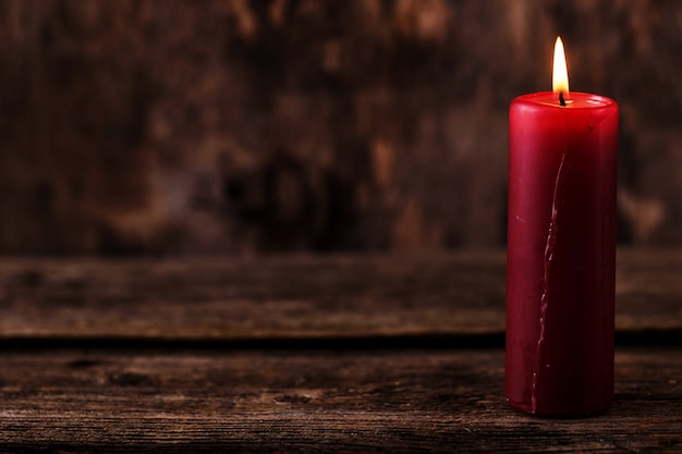 Big red candle