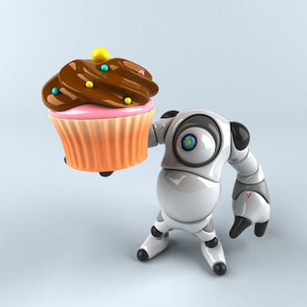 Большой робот - 3d персонаж