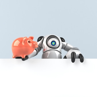 Big robot - 3d illustration