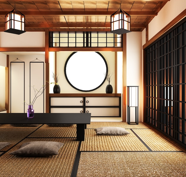 Big roominterior design japanses style