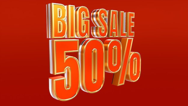 Big sale design 50% off discount and special offer banner