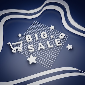 Big sale and special offer shopping concept rendering
