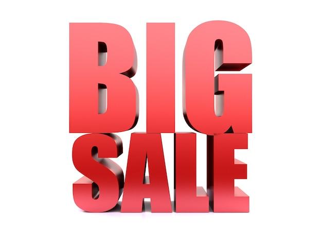 Big sale word ,3d render