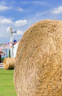 Big straw roll in farm
