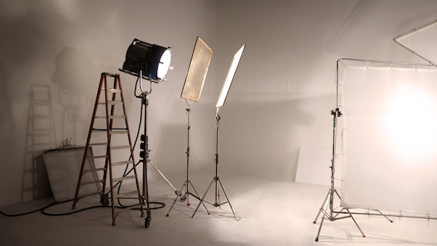 Big studio led continue lighting for photo and video shooting production on tripod which very strong