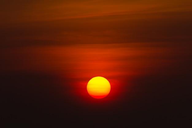 Big sun on the morning
