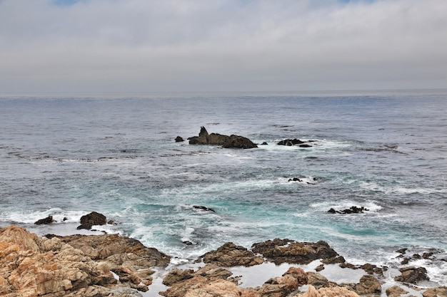 Big sur is scenic road on west coast of usa