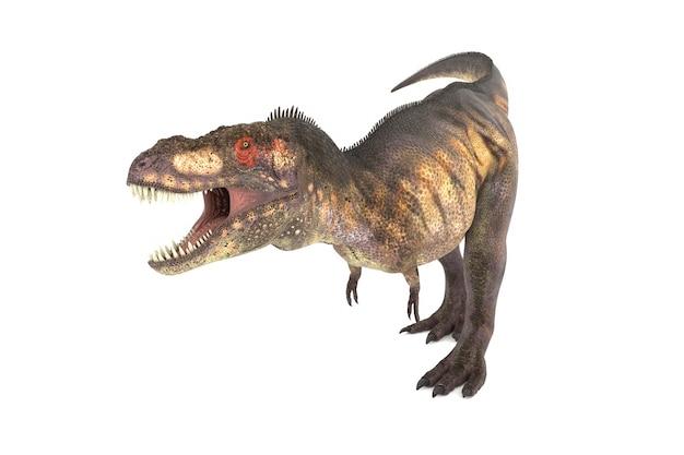 角度の3dイラストの大きなティラノサウルスのセット