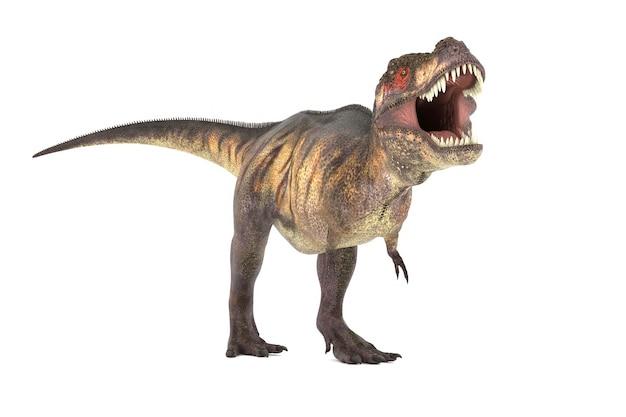 Большой тиранозавр набор углов 3d иллюстрации