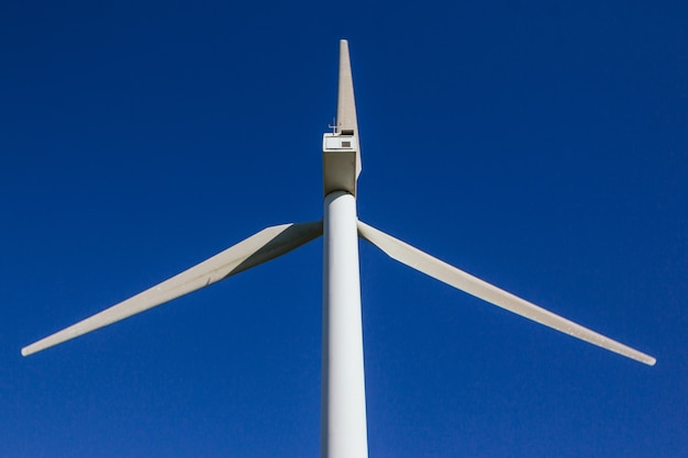 大きな風車をクローズアップ