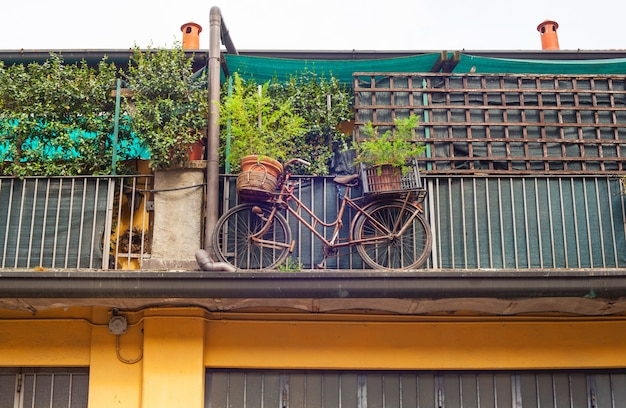 Bike on the balcony