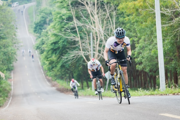 Bike challenge in chiangrai, thailand.