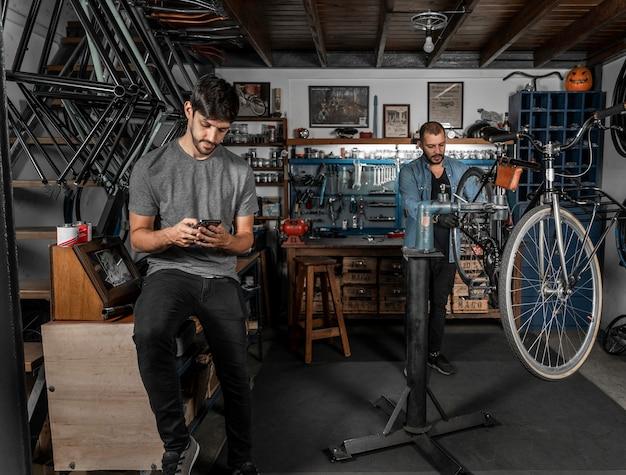 Bike creation in workshop