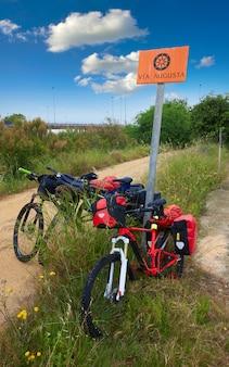 Bike cycling tourism by via augusta track