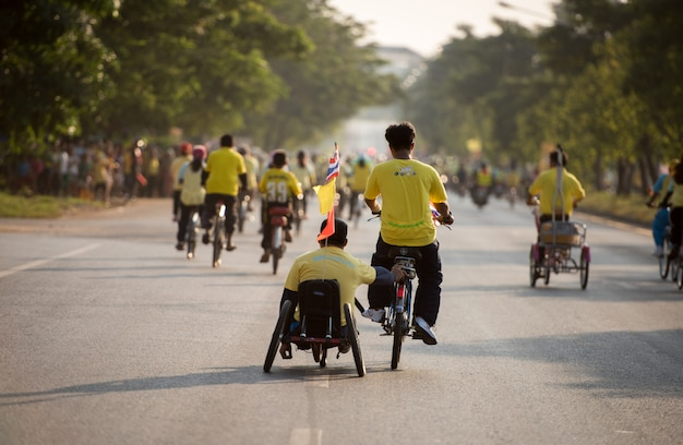 Bike for dad activity in father day on december 11th 2015 in nong khai