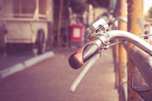 Bike handlebar with filter effect retro vintage style