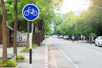 Bike lane in city