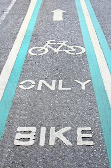 Bike lane painted in green.