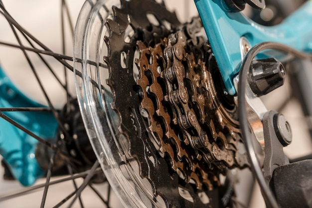 Велосипедная часть крупным планом