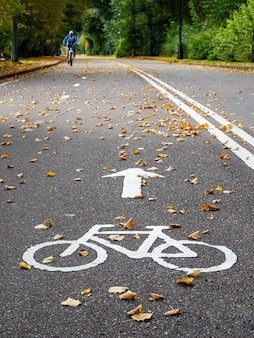 秋の自転車道