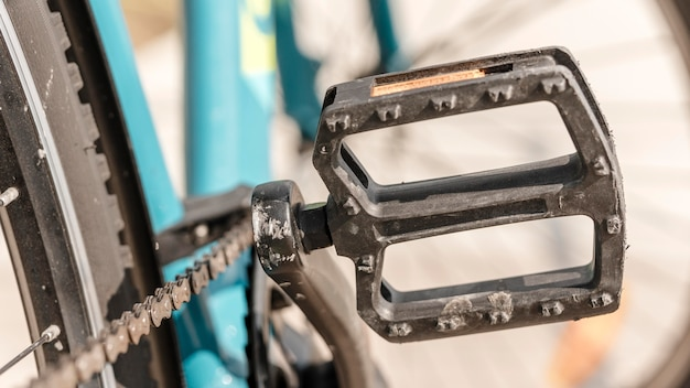 Bike pedal close-up