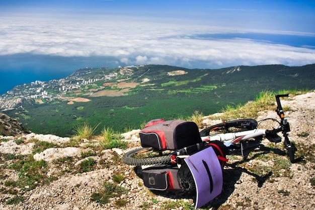 Bike over the precipice