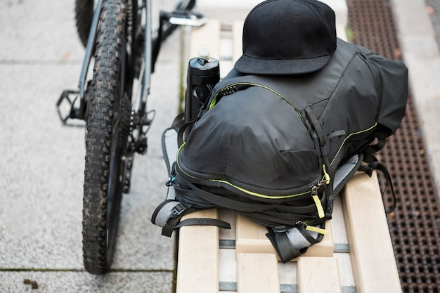 Bike stuff on bank