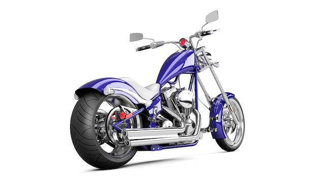 Байкерский мотоцикл на белом