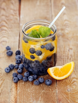 Bilberry drink with lemon