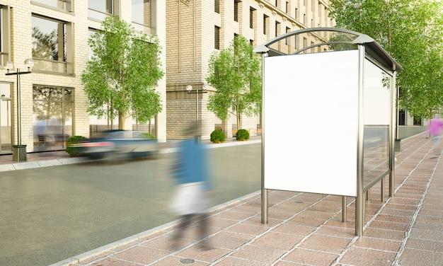 Рекламный щит на автобусной остановке