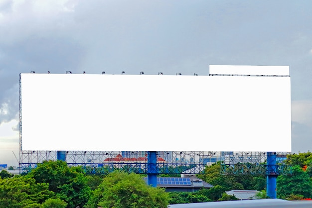 Billboard blank for outdoor advertising poster on the highway
