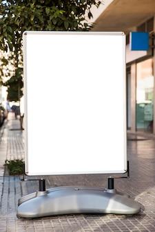 Billboard in city street