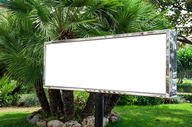 Billboard in a garden