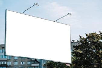 Billboard in residential area