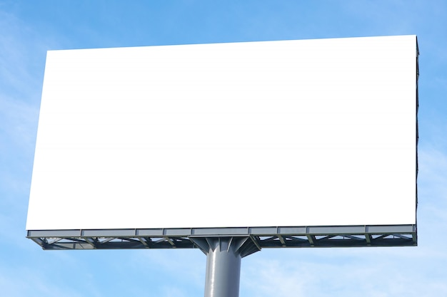 Billboard  large blank billboard with empty screen and beautiful cloudy sky for outdoor advertising poster, copyspace