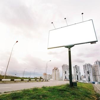 Billboard on city entrance