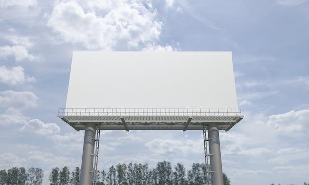 Billboard sign mockup template