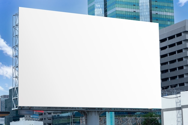 Billboard on the space of the city. mock-up