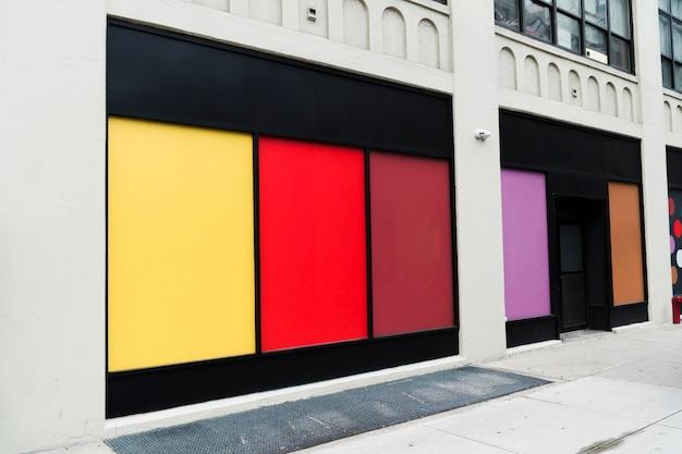 Шаблон рекламного щита в городской среде