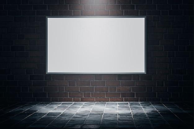 Рекламный щит стена общественное здание пространство текстура фон ночь