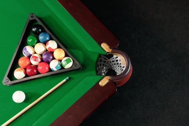 Billiard ball in the trianglethe billiard table, american billiards