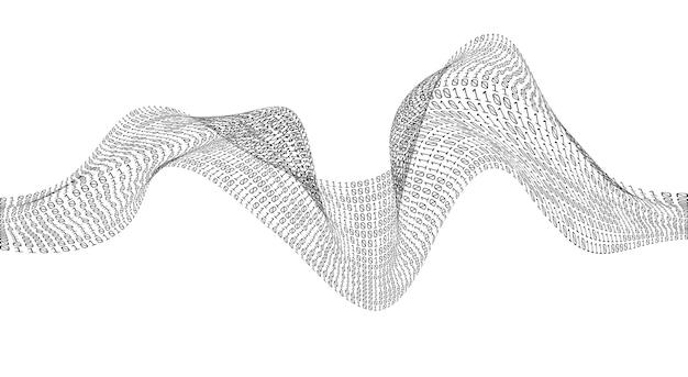 바이너리 코드 카오스 웨이브. 디지털 기술. 데이터 정렬. 인공 지능.빅 데이터.스마트 시스템.
