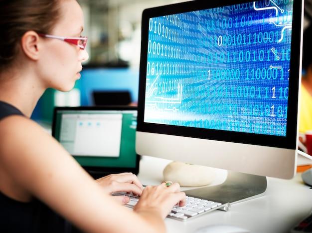 이진 코드 숫자 기술 소프트웨어 개념